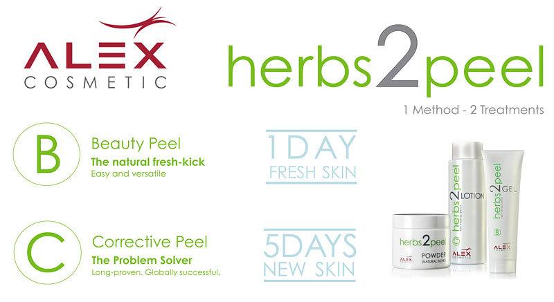 ALEX COSMETIC herbs2peel B:Beauty Peel C:Corrective Peel