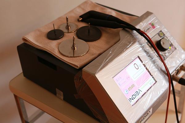 茨城県つくば市エステ アベールで使用しているINDIBAボディ痩身マシーン